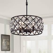 drum chandelier azha 4 light crystal drum chandelier ceiling fixture oil rubbed bronze glass prism drum