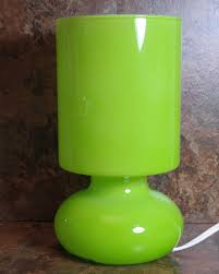 ikea lime green lykta glass table lamp retro style 1 of 8 see more