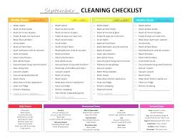 warehouse cleaning schedule template 8 house cleaning checklist templates doc housekeeping template free