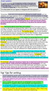 an opinion essay about fast food learnenglish teens british  show check your understanding matching