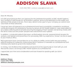 Cover Letter Addressed To Two People Phlebotomy Cover Letter Examples Samples Templates