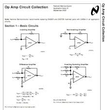 almost all opamp circuits you will ever need with formula s
