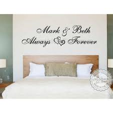 personalised bedroom wall stickers