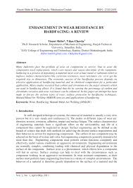 Hardfacing Electrode Comparison Chart Pdf Enhancement In Wear Resistance By Hardfacing A Review