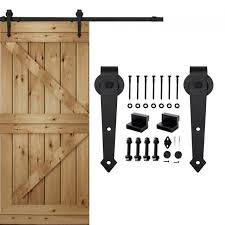 winsoon 5 16ft sliding barn door hardware double single door track kit arrow