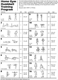 Dumbbell Workout Chart Fitness Tips Shelter Publications