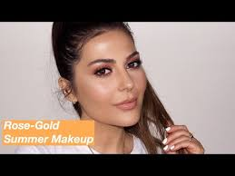 rose gold summer makeup tutorial