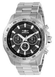invicta mens 22780 speedway black dial sport stainless steel watch invicta men s 22780 speedway quartz multifunction black dial watch
