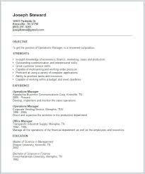 Resume Format For Aviation Industry Resume Example Operations ...