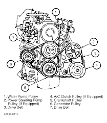 1997 ford aspire serpentine belt routing and timing belt diagrams rh 2carpros car engine diagram ford aspire gas tank