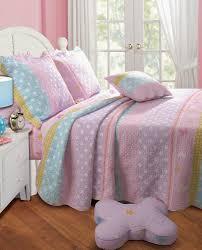 greenland home polka dot stripe quilt set
