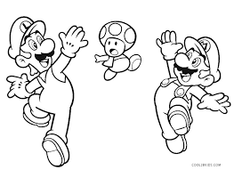 Super mario coloring pages are a good way for kids to develop their habit of coloring and painting, introduce them new colors, improve the creativity and motor skills. Free Printable Mario Brothers Coloring Pages For Kids