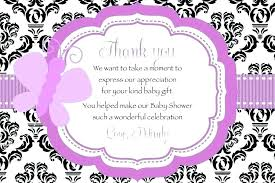 Baby Card Notes Thank You Note For Baby Shower Mediareport Co