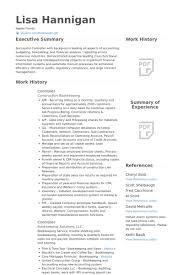 Financial Resume Fascinating Sample Controller Resume Trenutno