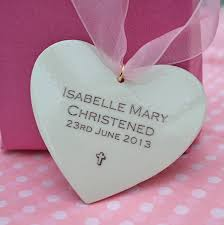 personalised baby christening keepsake