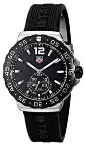 tag heuer formula 1 black rubber mens watch wau1110 ft6024 amazon tag heuer formula 1 black rubber mens watch wau1110 ft6024