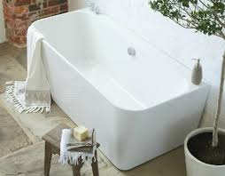 back to wall freestanding bath