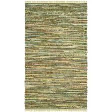 rag rug light green multi 6 ft x 9 ft