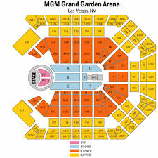 Mgm Grand Garden Arena Seating Chart With Rows Mgm Grand