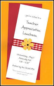 Teacher Appreciation Invitation Wording Teacher Appreciation