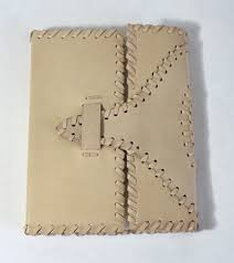 share white color goat tc leather with hand stitch leather journal on facebook