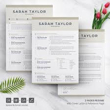 Sarah Taylor Resume Template 74556 Female Fitness Logos Design