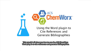 Acs Chemworx Using The Word Plugin To Cite References And Generate Bibliographies