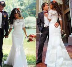 <b>2015 Romantic</b> Fall Winter Long Wedding Dresses White <b>Off</b> The ...