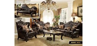 selecting brown tufted leather wood trim sofa set 675