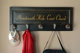 Golf Coat Rack Best Golf Gifts Nineteenth Hole Golf Coat Rack 3