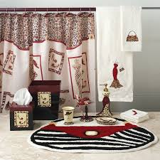 black and red bathroom accessories. red bathroom accessories walmart rukinet sets black and e