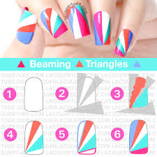 Summer Beaming Triangles Nail Art & Tutorial | Lacquertude