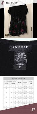 Torrid Size 2 Floral And Black Top Torrid Size 2 Top Torrid
