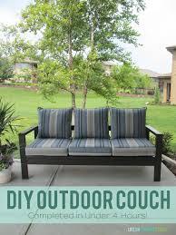 Diy Patio Furniture Diy Outdoor Couch Life On Virginia Street
