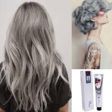100 Mlpermanente Punk Haarverf Licht Grijs Zilver Kleur Crème