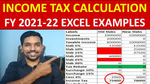 how to calculate ine tax fy 2021 22