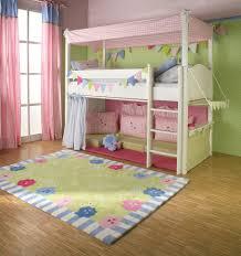 Amusing Children Bedroom Design Displaying Cool Wooden Canopy Bunk ...