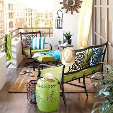 furniture for small balcony small balcony with wrought iron furniture green upholstery ad small furniture ideas pursue