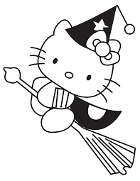 Small Picture witch halloween coloring pages hello kitty Coloring Kids