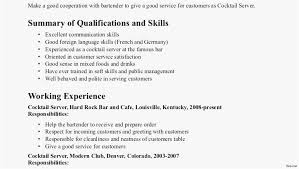 24 Bartender Resume Skills Download Best Resume Templates