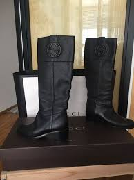 gucci leather boots size 39