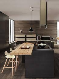 Modern kitchen island Portable Contrasting Wood Panel For Eating Is An Awesome Addition To Modern Kitchen Island Housely 30 Kitchen Islands With Seating And Dining Areas Digsdigs