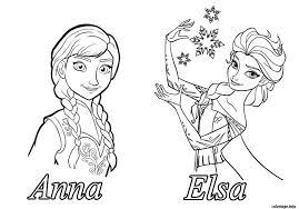 Coloriage Reine Des Neiges Anna Elsa Dessin