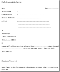 Leave Letter Templates 14 Samples In Pdf Word Format The