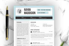 Resume Template 4 Pages Cv Templat Resume Templates Creative