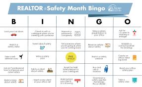Office Bingo Realtor Safety Month Bingo Chicago Association Of Realtors