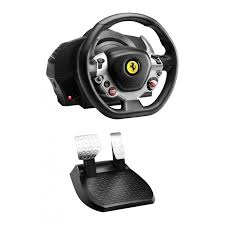 thrustmaster tx racing wheel leather edition wired black for xbox one pc