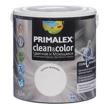 <b>Краска Primalex Clean&Color Белое</b> кружево 2.5л, Primalex 420199