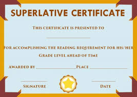 Superlative Certificate Superlative Certificate Template Word Superlative Certificate