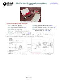 Bsl Labs Design Bsl Pro Signal Processing Breadboard Labs Manualzz Com